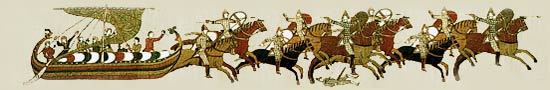 Picture of a scene from the Bayeux Tapestry